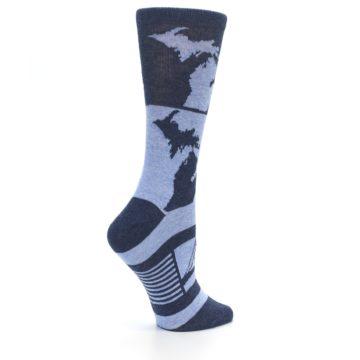 Image of Blue Michigan Women's Dress Socks (side-1-24)