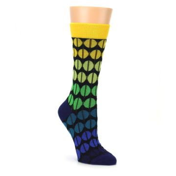 Yellow green blue women's dress socks by ballonet