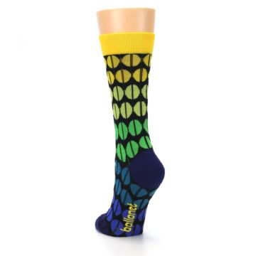 Image of Yellow Green Beans Women's Dress Socks (side-2-back-16)