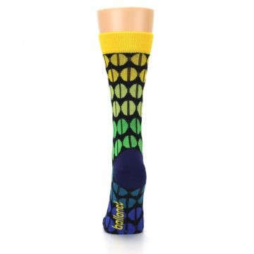Image of Yellow Green Beans Women's Dress Socks (back-18)