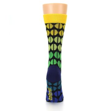 Image of Yellow Green Beans Women's Dress Socks (back-19)