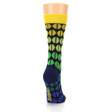 Image of Yellow Green Beans Women's Dress Socks (side-1-back-20)
