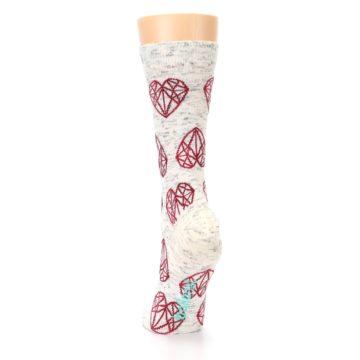 Image of Grey Red Hearts Women's Dress Socks (back-17)