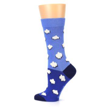 Image of Blue Sky Clouds Women's Dress Socks (side-2-13)
