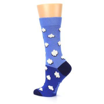 Image of Blue Sky Clouds Women's Dress Socks (side-2-back-14)