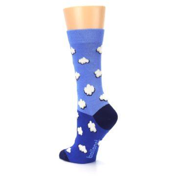 Image of Blue Sky Clouds Women's Dress Socks (side-2-back-15)