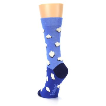 Image of Blue Sky Clouds Women's Dress Socks (side-2-back-16)
