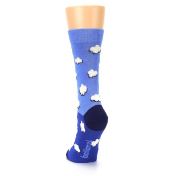 Image of Blue Sky Clouds Women's Dress Socks (back-17)