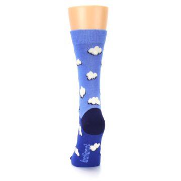 Image of Blue Sky Clouds Women's Dress Socks (back-18)