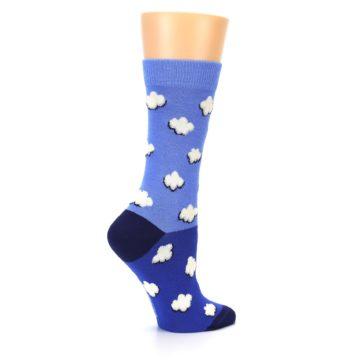 Image of Blue Sky Clouds Women's Dress Socks (side-1-24)