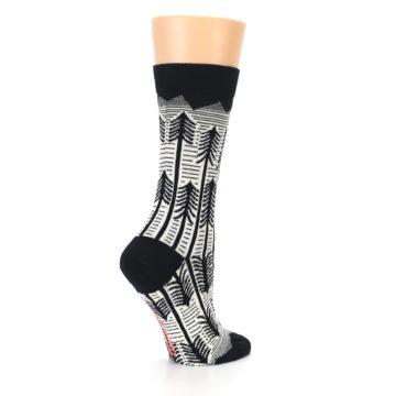 Image of Black White Forest Trees Women's Dress Socks (side-1-23)
