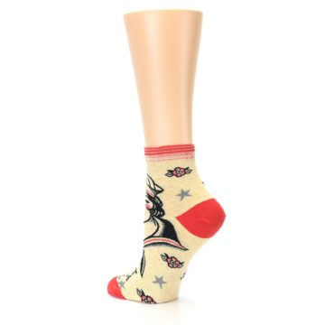 Image of Tan Fight Like A Girl Women's Ankle Socks (side-2-back-14)