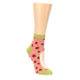 Image of Coral Pizza Fixes Everything Women's Ankle Socks (side-1-front-01)