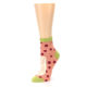Image of Coral Pizza Fixes Everything Women's Ankle Socks (side-2-09)