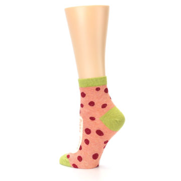 Image of Coral Pizza Fixes Everything Women's Ankle Socks (side-2-back-14)