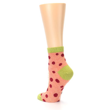 Image of Coral Pizza Fixes Everything Women's Ankle Socks (side-2-back-15)