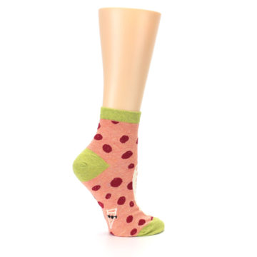 Image of Coral Pizza Fixes Everything Women's Ankle Socks (side-1-24)