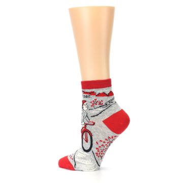 Image of Grey Red Hellraiser Women's Ankle Socks (side-2-13)
