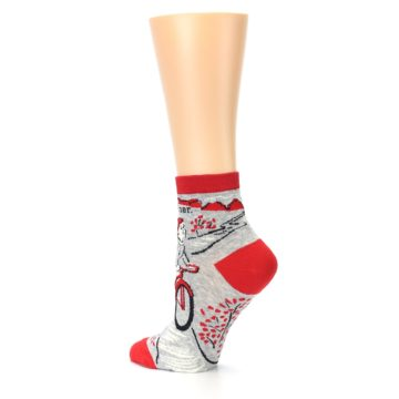 Image of Grey Red Hellraiser Women's Ankle Socks (side-2-back-14)