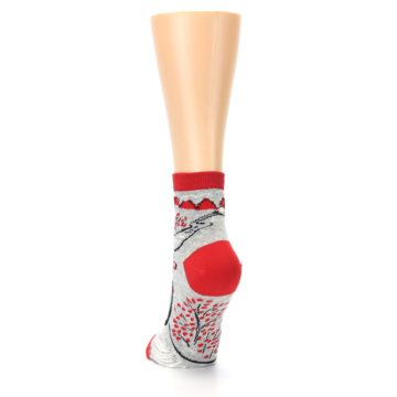 Image of Grey Red Hellraiser Women's Ankle Socks (back-17)