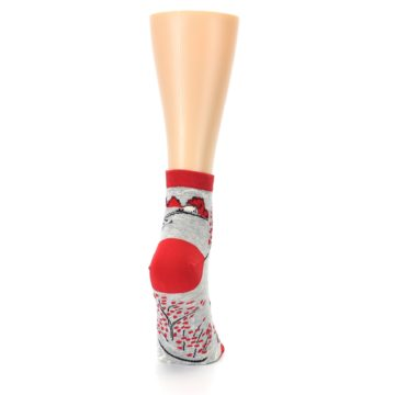 Image of Grey Red Hellraiser Women's Ankle Socks (side-1-back-20)