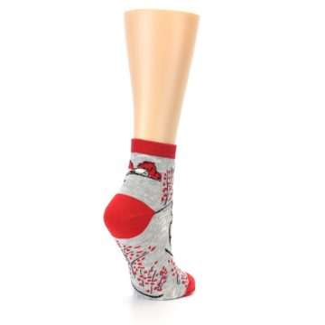 Image of Grey Red Hellraiser Women's Ankle Socks (side-1-back-22)