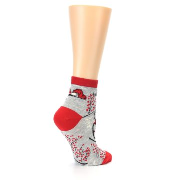 Image of Grey Red Hellraiser Women's Ankle Socks (side-1-23)