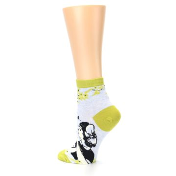 Image of Light Blue Lime Beautiful Women's Ankle Socks (side-2-back-14)