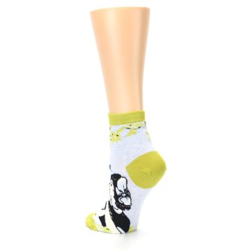 Image of Light Blue Lime Beautiful Women's Ankle Socks (side-2-back-15)