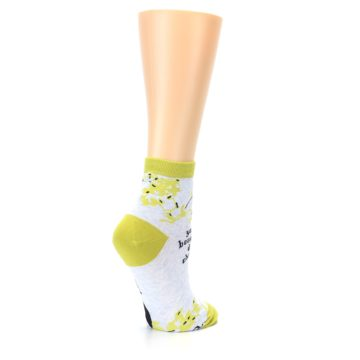 Image of Light Blue Lime Beautiful Women's Ankle Socks (side-1-back-22)