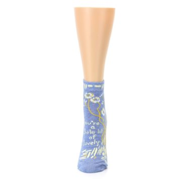 Image of Blue Whole Lotta Lovely Women's Ankle Socks (side-2-front-06)