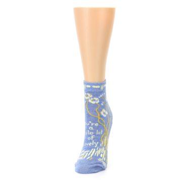 Image of Blue Whole Lotta Lovely Women's Ankle Socks (side-2-front-07)