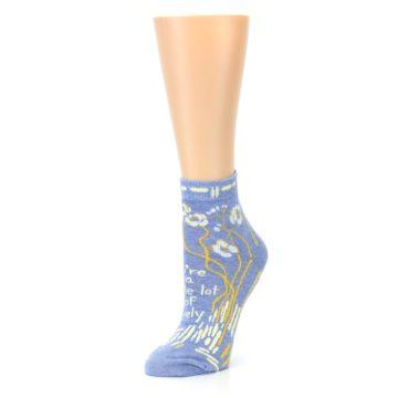 Image of Blue Whole Lotta Lovely Women's Ankle Socks (side-2-09)
