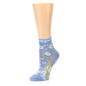 Image of Blue Whole Lotta Lovely Women's Ankle Socks (side-2-10)