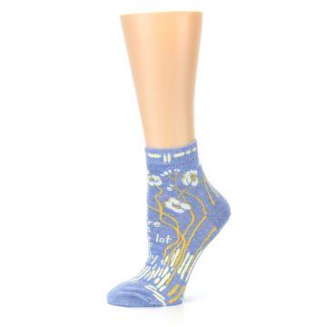 Image of Blue Whole Lotta Lovely Women's Ankle Socks (side-2-11)