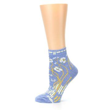 Image of Blue Whole Lotta Lovely Women's Ankle Socks (side-2-12)