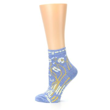 Image of Blue Whole Lotta Lovely Women's Ankle Socks (side-2-13)