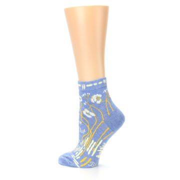 Image of Blue Whole Lotta Lovely Women's Ankle Socks (side-2-back-14)
