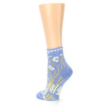 Image of Blue Whole Lotta Lovely Women's Ankle Socks (side-2-back-15)