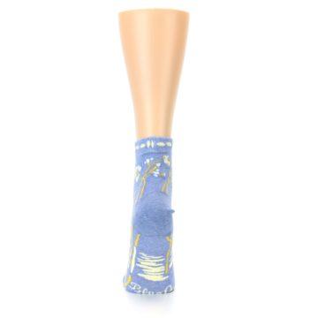 Image of Blue Whole Lotta Lovely Women's Ankle Socks (back-19)