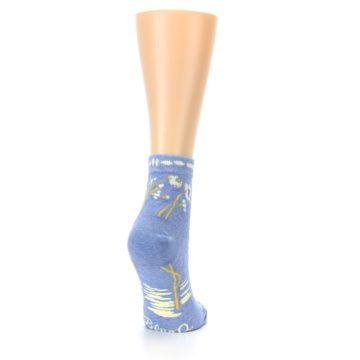 Image of Blue Whole Lotta Lovely Women's Ankle Socks (side-1-back-21)