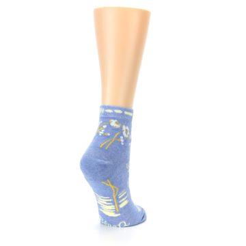 Image of Blue Whole Lotta Lovely Women's Ankle Socks (side-1-back-22)