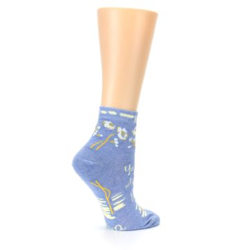 Image of Blue Whole Lotta Lovely Women's Ankle Socks (side-1-24)