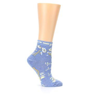 Image of Blue Whole Lotta Lovely Women's Ankle Socks (side-1-25)