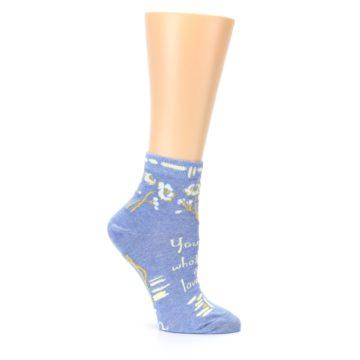 Image of Blue Whole Lotta Lovely Women's Ankle Socks (side-1-26)