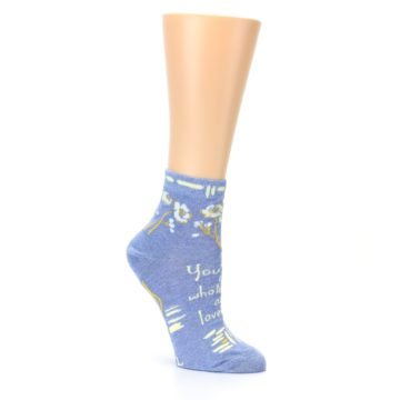 Image of Blue Whole Lotta Lovely Women's Ankle Socks (side-1-27)