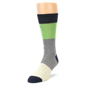 Image of Grey Green Mr. Fix It Men's Dress Socks (side-2-front-07)