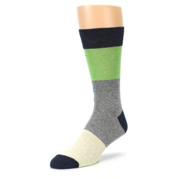 Image of Grey Green Mr. Fix It Men's Dress Socks (side-2-front-08)