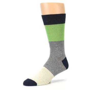 Image of Grey Green Mr. Fix It Men's Dress Socks (side-2-09)
