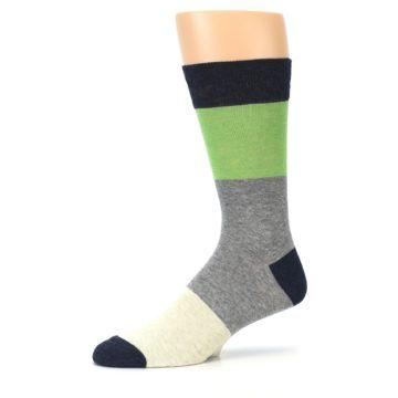 Image of Grey Green Mr. Fix It Men's Dress Socks (side-2-10)